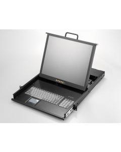 "1U, 19"" LCD keyboard drawer, single rail, PS2"