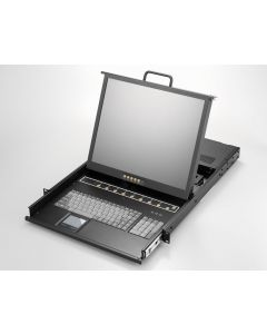 "1U, 17"" LCD keyboard drawer, single rail, 8x 1.8m KVM, COMBO"