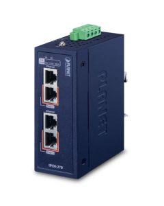 IPOE-270 Industrial 2 port Multi-Gigabit 802.3bt PoE++ Injector 48~56