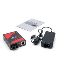 10/100TX To 100FX PoE Media Converter, Multi-Mode 2KM, SC Co