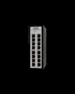 16 port Industrial Ethernet Switch, dual 9V-36VDC, -40~75°C