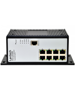 Lantech IES-2008B-DNV 8 10/100TX Pro-Ring IIs Industrial Managed Ethernet Switch. Contact Arcobel.com.