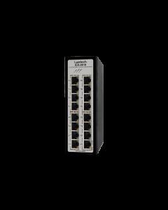16 port Industrial Ehterhet Switch, dual 9V-36VDC, -40-75