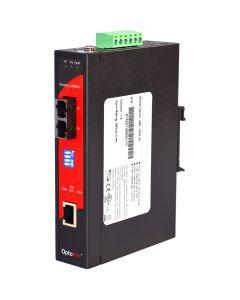 10/100TX To 100FX Industrial PoE Media Converter, SM 30KM SC