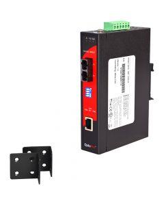 10/100TX To 100FX Industrial PoE Media Converter, Multi-Mode
