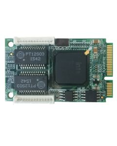 MPX-350 PCI Express mini card support two Giga LAN