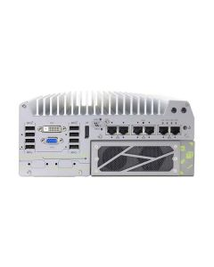 Neousys 7166GC AI Inference fanless box PC, equipped with Tesla T4 GPU. Contact us via AbiGo4U.com.
