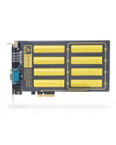 Intelligent ultracapacitor-based power backup PCIe card