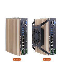 Neousys POC 545 fanless industrial PC with AMD Ryzen processor and external fan